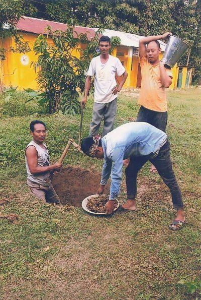 インドのナガランドから、井戸掘りの経過についての手紙が届きました。