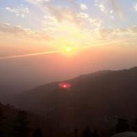 ダラムサラの夕陽